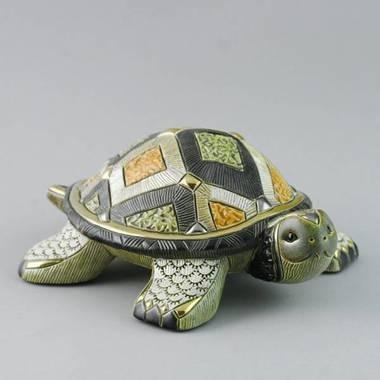 Керамическая статуэтка с позолотой Сухопутная черепаха