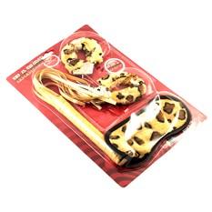 Леопардовый набор Наручники+плетка