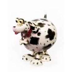 Большая керамическая фигурка на пружине Собака