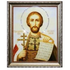 Икона с кристаллами Swarovski Святой Александр