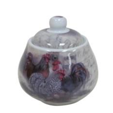 Сахарница Петухи (цвет — серый)