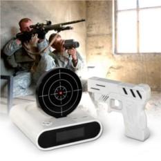 Часы - будильник Пистолет с мишенью