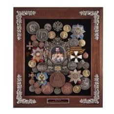 Настенная большая ключница Николай II