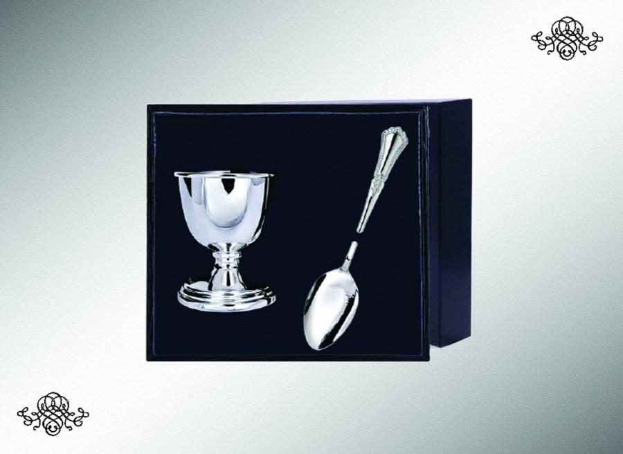 Серебряный набор для завтрака Фаворит из 2 предметов