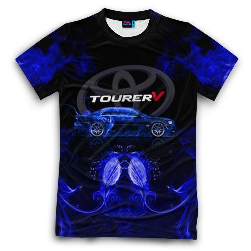 Мужская футболка 3D с полной запечаткой Toyota chaser