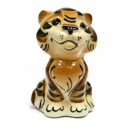 Фигурка «Сидящий тигренок»
