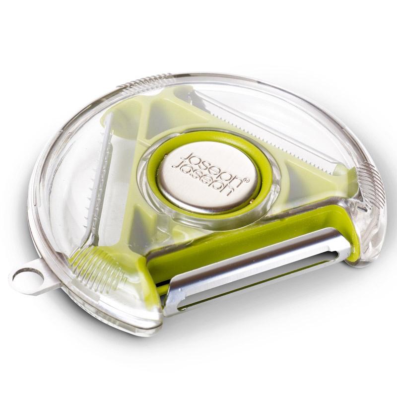 Компактный пиллер с тремя лезвиями Rotary Peeler™, зеленый