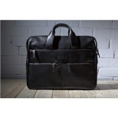 Черная вместительная деловая сумка Brialdi Manchester