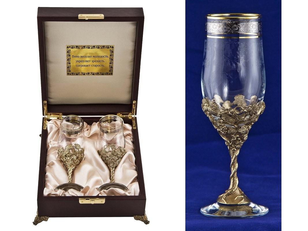 Набор бокалов для шампанского Нежность