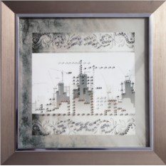 Картина с кристаллами Сваровски Строители-3