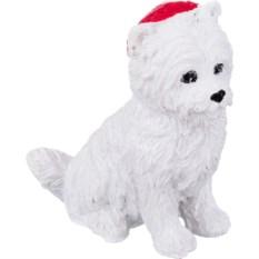 Фигурка Белая собака в колпаке