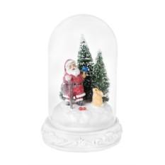 Новогоднее светящееся украшение Дед Мороз с зайкой