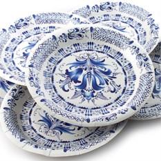 Набор из 6 тарелок Гжель