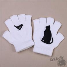 Белые полуперчатки Чёрный кот