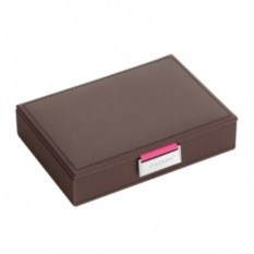 Коричнево-розовая шкатулка для драгоценностей LC Designs Co