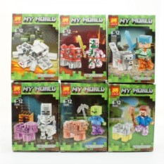 Набор из 6 конструкторов Lele Minecraft