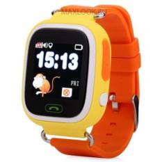 Оранжевые детские часы Smart Baby Watch Q80