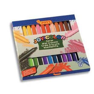 Карандаши восковые 24 цвета Jovi