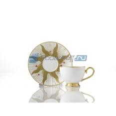 Кофейный сервиз на 2 персоны «День» с белым блюдцем