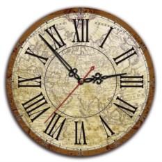 Сувенирные ретро-часы Карта