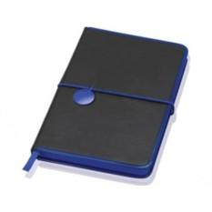 Блокнот Lettertone модель Color Rim (цвет — черный/синий)