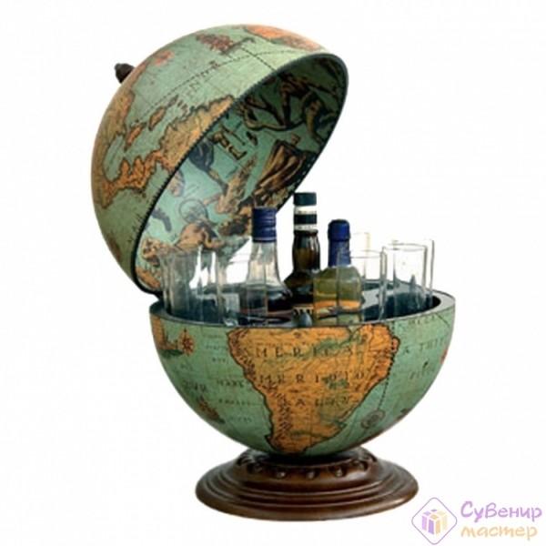 Глобус-бар настольный «Лагуна», диаметр 40 см
