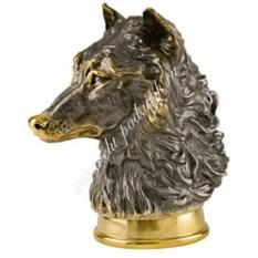 Стопка-перевертыш Волк из серебра с золочением