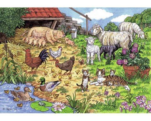 Пазл Семьи обитателей фермы