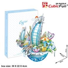 3D пазл Cubic Fun Городской пейзаж - Дубаи