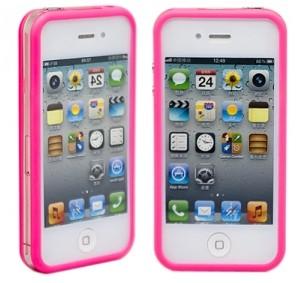 Розовый бампер для iPhone 4/4S Colorful