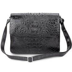 Мужская плечевая сумка из кожи крокодила