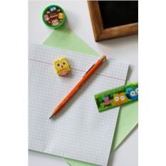Оранжевая шариковая ручка с вашим текстом Яркие краски