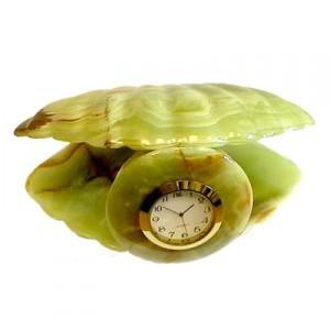 Сувенир с часами Ракушка большая
