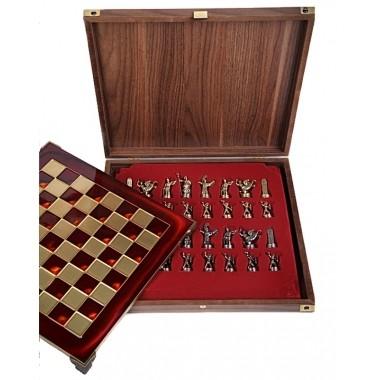 Металлические шахматы «Античные войны»