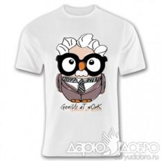 Мужская футболка с совой Альберт Goofi