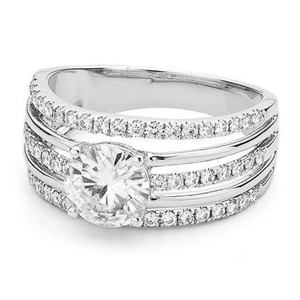 Роскошное кольцо с муассанитом Bessie