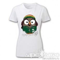 Женская футболка с совой Боб от Goofi