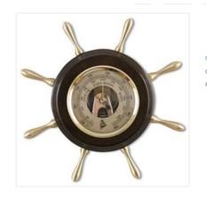 Настенный барометр Штурвал. Цвет — венге