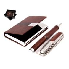 Подарочный набор Визитница, ручка, нож складной