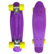 Фиолетово-жёлтый скейт EcoBalance