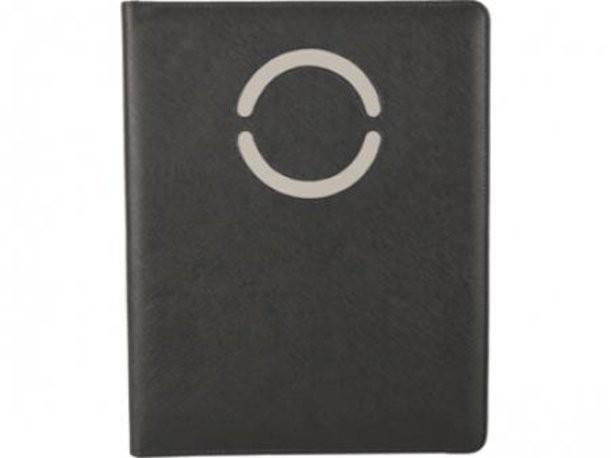Черно-серая папка для документов с блокнотом