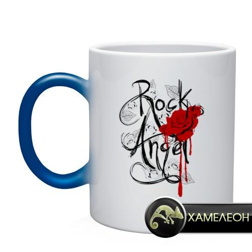 Кружка-хамелеон Rock angel red rose