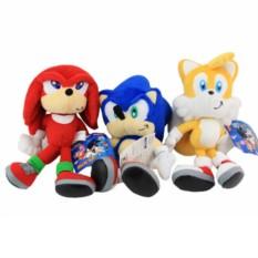 Набор мягких игрушек Соник, Майлз и Наклз