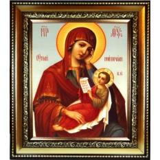 Утоли моя печали. Икона Божьей Матери на холсте.