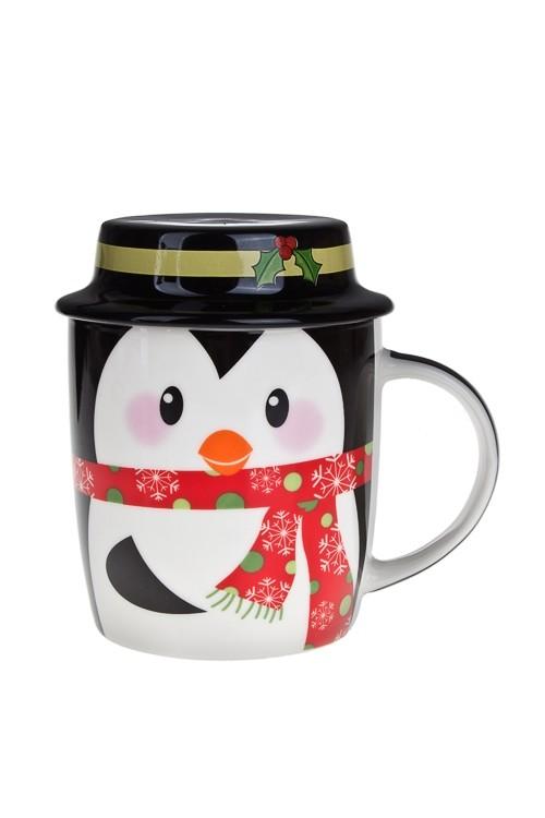 Кружка с крышкой Мистер Пингвин