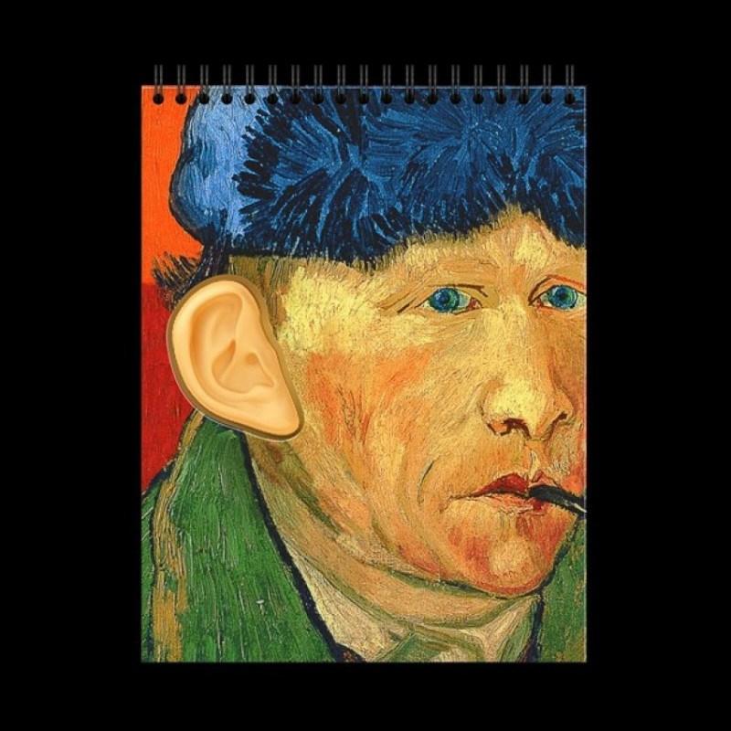 Блокнот с отрезанным ухом Ван Гог