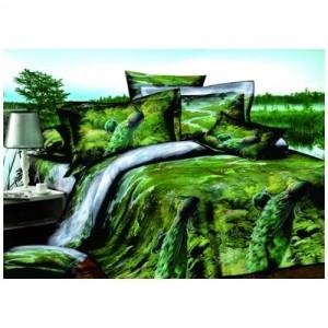 Постельное белье 3D «Тропический рай» (евро)