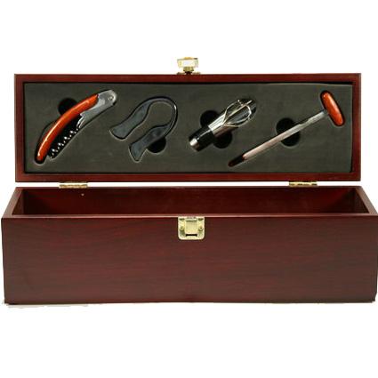 Винный набор-нож, пробка, зажим, футляр, термометр