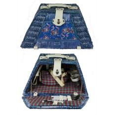 Набор для пикника на 2 персоны в синем футляре