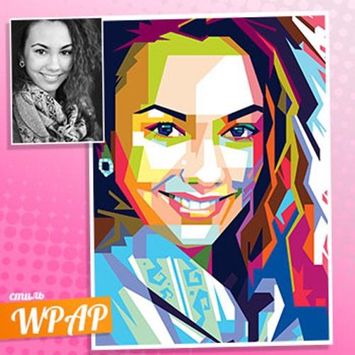 WPAP портрет по фотографии для девушки